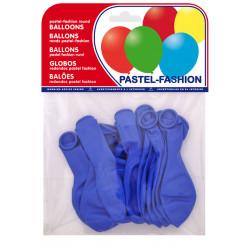 Globo balloons® cp redondo de látex 100%, color pastel azul medio, bolsa de 20 uds.