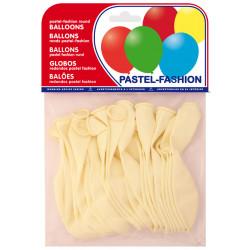 Globo balloons® cp redondo de látex 100%, color pastel blanco, bolsa de 20 uds.