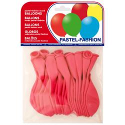 Globo balloons® cp redondo de látex 100%, color pastel fucsia, bolsa de 20 uds.