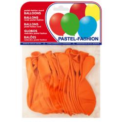 Globo balloons® cp redondo de látex 100%, color pastel naranja, bolsa de 20 uds.