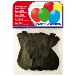 Globo balloons® cp redondo de látex 100%, color pastel negro, bolsa de 20 uds.