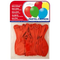Globo balloons® cp redondo de látex 100%, color pastel rojo, bolsa de 20 uds.