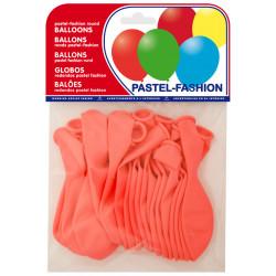 Globo balloons® cp redondo de látex 100%, color pastel rosa, bolsa de 20 uds.