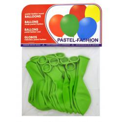 Globo balloons® cp redondo de látex 100%, color pastel verde, bolsa de 20 uds.