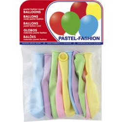 Globo balloons® cp redondo de látex 100%, colores pastel surtidos, bolsa de 10 uds.