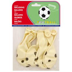 Globo balloons® cp redondo de látex 100%, con diseño de balón de fútbol, bolsa de 8 uds.