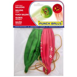 """Globo balloons® cp redondo de látex 100%, """" punch ball """", colores surtidos, bolsa de 2 uds."""
