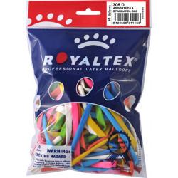 Globo balloons® cp alargado de látex 100%, para hacer figuras, colores surtidos, bolsa de 50 uds.