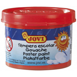 Témpera escolar jovi, bote de 35 ml. color bermellón.