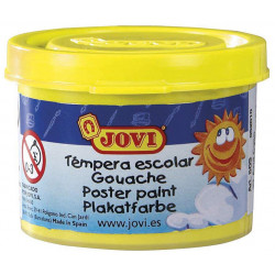 Témpera escolar jovi, bote de 35 ml. color amarillo.