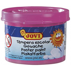 Témpera escolar jovi, bote de 35 ml. color magenta.