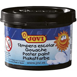 Témpera escolar jovi, bote de 35 ml. color negro.