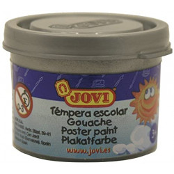 Témpera escolar jovi, bote de 35 ml. color plata.