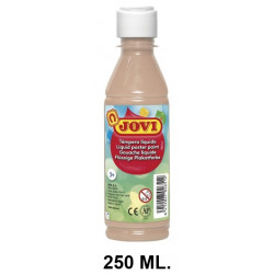 Témpera escolar líquida jovi, botella de 250 ml. color carne.