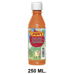 Témpera escolar líquida jovi, botella de 250 ml. color naranja.