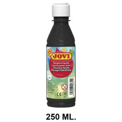 Témpera escolar líquida jovi, botella de 250 ml. color negro.