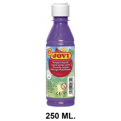 Témpera escolar líquida jovi, botella de 250 ml. color violeta.
