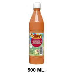 Témpera escolar líquida jovi, botella de 500 ml. color naranja.