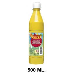 Témpera escolar líquida jovi, botella de 500 ml. color amarillo.