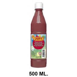 Témpera escolar líquida jovi, botella de 500 ml. color marrón.