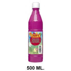 Témpera escolar líquida jovi, botella de 500 ml. color magenta.