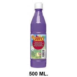 Témpera escolar líquida jovi, botella de 500 ml. color violeta.