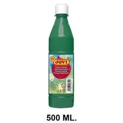 Témpera escolar líquida jovi, botella de 500 ml. color verde oscuro.