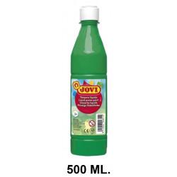 Témpera escolar líquida jovi, botella de 500 ml. color verde medio.