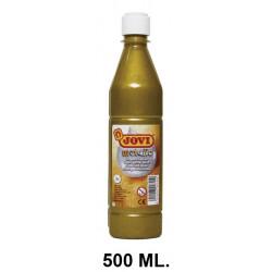 Témpera escolar líquida jovi, botella de 500 ml. color metalic oro.