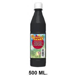 Témpera escolar líquida jovi, botella de 500 ml. color negro.
