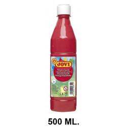 Témpera escolar líquida jovi, botella de 500 ml. color bermellón.
