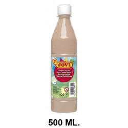 Témpera escolar líquida jovi, botella de 500 ml. color carne.