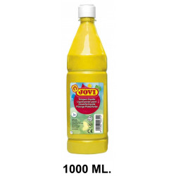 Témpera escolar líquida jovi, botella de 1000 ml. color amarillo.