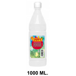 Témpera escolar líquida jovi, botella de 1000 ml. color blanco.