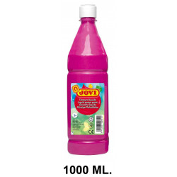 Témpera escolar líquida jovi, botella de 1000 ml. color magenta.