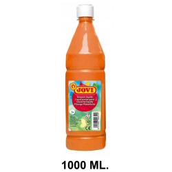 Témpera escolar líquida jovi, botella de 1000 ml. color naranja.