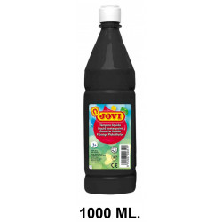 Témpera escolar líquida jovi, botella de 1000 ml. color negro.