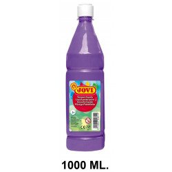 Témpera escolar líquida jovi, botella de 1000 ml. color violeta.