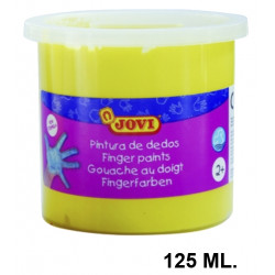 Pintura de dedos jovi, bote de 125 ml. color amarillo.