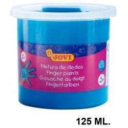 Pintura de dedos jovi, bote de 125 ml. color azul.