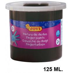 Pintura de dedos jovi, bote de 125 ml. color negro.