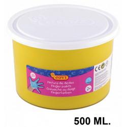 Pintura de dedos jovi, bote de 500 ml. color amarillo.