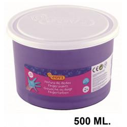Pintura de dedos jovi, bote de 500 ml. color violeta.