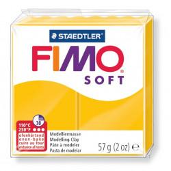 Pasta para modelar staedtler fimo® soft 8020, pastilla de 57 grs. color amarillo.