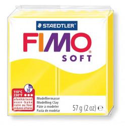 Pasta para modelar staedtler fimo® soft 8020, pastilla de 57 grs. color amarillo limón.
