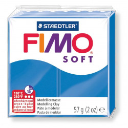 Pasta para modelar staedtler fimo® soft 8020, pastilla de 57 grs. color azul.
