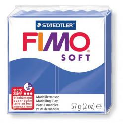 Pasta para modelar staedtler fimo® soft 8020, pastilla de 57 grs. color azul brillante.