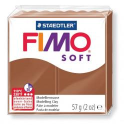 Pasta para modelar staedtler fimo® soft 8020, pastilla de 57 grs. color caramelo.