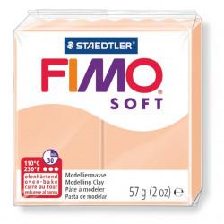 Pasta para modelar staedtler fimo® soft 8020, pastilla de 57 grs. color carne.