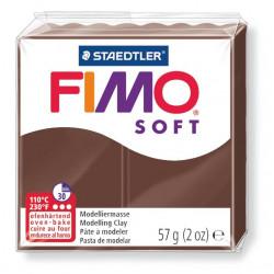 Pasta para modelar staedtler fimo® soft 8020, pastilla de 57 grs. color chocolate.